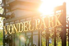 Alba della molla di Vondelpark Fotografie Stock