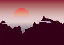 Alba della montagna illustrazione di stock
