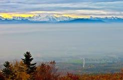 Alba della montagna Immagine Stock