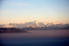 Alba della montagna Immagini Stock Libere da Diritti