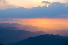 Alba della montagna Immagini Stock