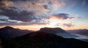 Alba della montagna Fotografia Stock Libera da Diritti