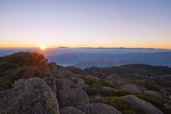 Alba della montagna della Buffalo di Mt Immagine Stock Libera da Diritti