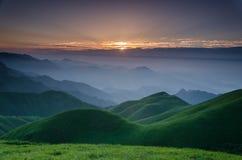 Alba della montagna di WuGong Fotografia Stock Libera da Diritti