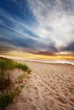 Alba della spiaggia della Maine Fotografia Stock