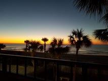 Alba 2018 della spiaggia di Myrtle Beach immagine stock