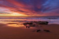 Alba della spiaggia di Warriewood Immagini Stock