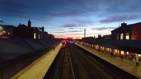 Alba della stazione di Nottingham fotografia stock