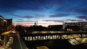Alba della stazione di Nottingham fotografie stock