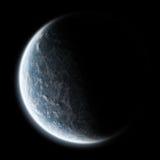 Alba della terra - esplorazione dell'universo Immagini Stock Libere da Diritti