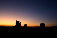 Alba della valle del monumento Immagine Stock