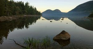 Alba dello stagno del Giordano, Acadia Fotografia Stock