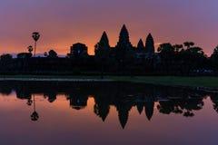 Alba di Angkor Wat Fotografie Stock Libere da Diritti