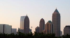 Alba di Atlanta di Midtown Fotografia Stock