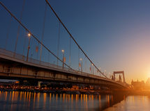Alba di Budapest immagine stock