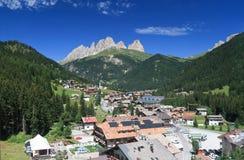 Alba Di Canazei, Trentino, Włochy Fotografia Stock