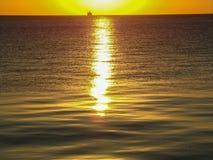 Alba di Chicago, lago Michigan Fotografia Stock