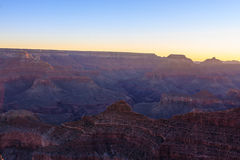 Alba di Grand Canyon da Mather Point Immagini Stock
