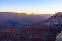 Alba di Grand Canyon da Mather Point Fotografia Stock Libera da Diritti