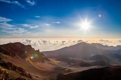 Alba di Haleakaka Fotografia Stock