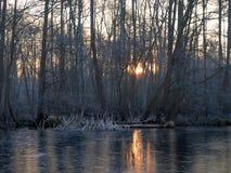 Alba di Lakeside Immagine Stock
