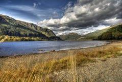 Alba di Lubnaig del lago Fotografie Stock