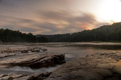 Alba di Maitland Falls Long Exposure At fotografia stock