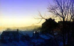 Alba di Manchester Fotografia Stock