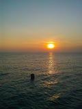 Alba di mattina al mare dell'isola di Samed, Tailandia Fotografia Stock