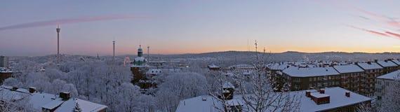 Alba di mattina di inverno Immagini Stock