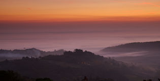 Alba di Montepulciano, Italia immagine stock libera da diritti