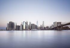 Alba di New York City Fotografie Stock