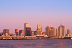 Alba di paesaggio urbano di New Orleans Fotografie Stock Libere da Diritti