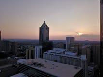 Alba di primo mattino nel mezzo di Atlanta del centro fotografie stock