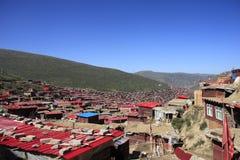 Alba di punta gonggar della provincia del Sichuan della Cina Fotografia Stock Libera da Diritti