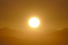 Alba di San Gabriel National Monument Mountain Ridge Fotografia Stock