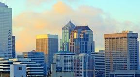 Alba di Seattle Fotografia Stock