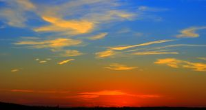 Alba di sera. Immagine Stock Libera da Diritti