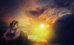 Alba di sorveglianza di tramonto Immagine Stock