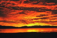 Alba di Tahoe Fotografia Stock