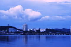 Alba di tempo il litorale alla Tailandia, Immagini Stock Libere da Diritti