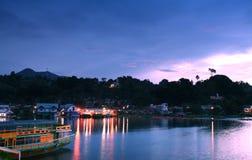 Alba di Toba del lago Fotografie Stock