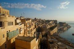 Alba di Valletta, Valletta, Malta fotografie stock libere da diritti