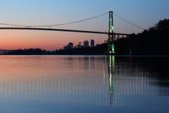 Alba di Vancouver Immagine Stock