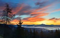 Alba di Vancouver Fotografia Stock