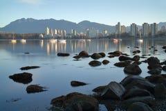 Alba di Vancouver, baia inglese Fotografia Stock Libera da Diritti