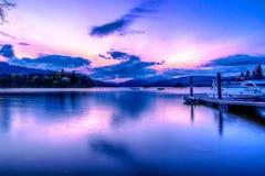 Alba di Windermere del lago Fotografie Stock Libere da Diritti