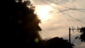 Alba di Windy Night At Dusk Or archivi video