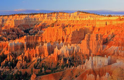 Alba dorata in Bryce Canyon Fotografia Stock