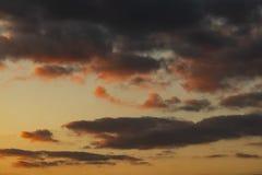 Alba e nubi fotografia stock